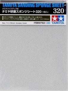 Models Sanding Sponge Sheet - 320 (1pc, 140mm x 114mm)