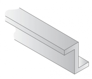 OPAQUE WHITE POLYSTYRENE Z CHANNEL