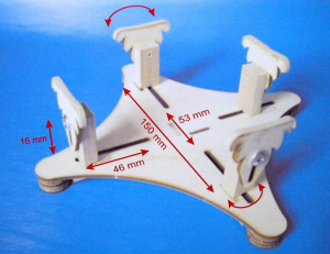 Wooden stand for airplanes