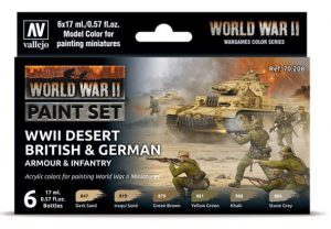 WWII Desert British & German Armour & Infantry
