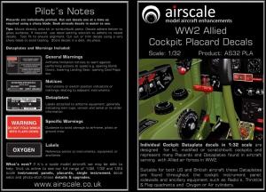 COCKPIT PLACARDS & DATAPLATES