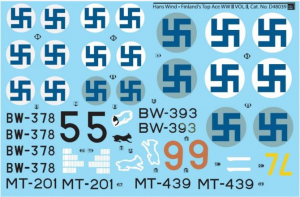 Decal Hans Wind Finland's Top Ace WWII