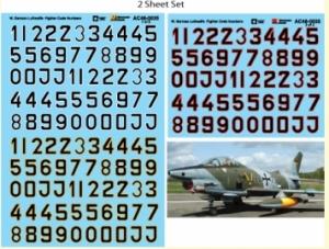 German Luftwaffe Fighter Code Numbers (Black Fill)