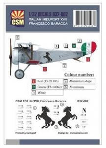 ITALIAN NIEUPORT XVII FRANCESCO BARACCA