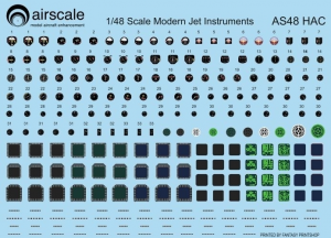 MODERN JETS Cockpit Instrument Decals