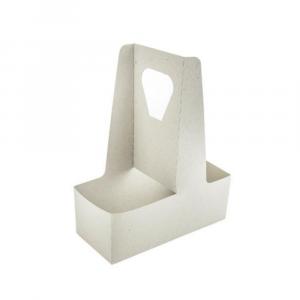 Porta bicchieri in cartoncino con maniglia - 2 posti