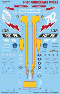 USAF F-16C Anniversary Vipers