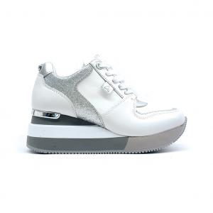 Sneaker bianca/argento Apepazza