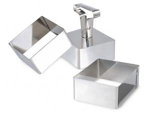 Coppapasta con pressatore quadrato in acciaio