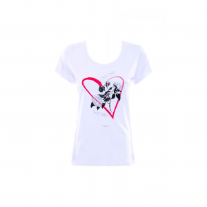 T-SHIRT M/C STAMPA CUORE