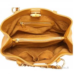 Borsa Cuoio a Mano con manici di legno in pelle - Fabrizia - Pelletteria Fiorentina