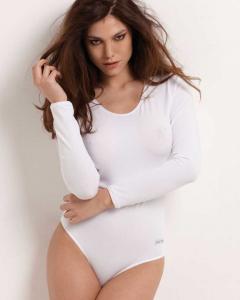 Body da donna in cotone con manica lunga RISVEGLIA I SENSI