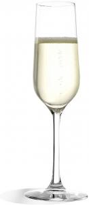 Set di 6 flute in vetro da Champagne Revolution ml 200