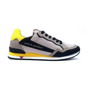 Sneaker grigia/gialla Guess