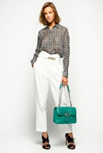 Pantaloni chinos con vita alta e cintura Pinko