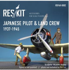 Japanese pilot & land crew