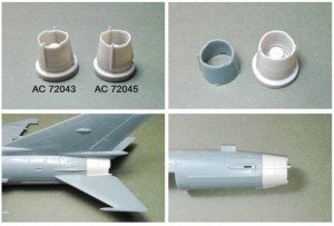 Mig-21MF correction exhaust set - Moscow production