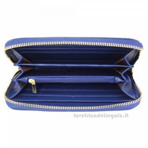 Portafoglio donna Blu Elettrico in pelle - Zippy D - Pelletteria Fiorentina