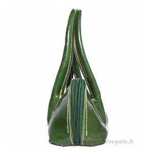Borsa Verde a Spalla in pelle - Serafina - Pelletteria Fiorentina
