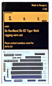 DH-82 Tiger Moth rigging wire PE set