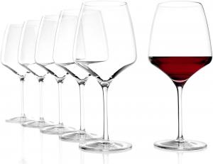 Set 6 calici in vetro da vino rosso Burgundy Experience ml 695 cm.23,8h diam.9,5