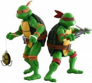 Teenage Mutant Ninja Turtles: Action Figure Animated Series - Wave 2 Michelangelo, Raffaello, Leonardo, Donatello by Neca