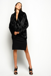 SHOPPING ON LINE PINKO CABAN REVERSIBILE FAUX FUR VISONE ODDONE NEW COLLECTION WOMEN'S FALL WINTER 2020/2021