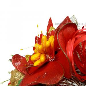 Decorazione Natale Fiori di confetti Sulmona 29x27x11 cm Handmade - Italy