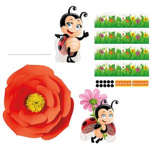 LADY BUG Gabbia per criceti con decorazioni e adesivi inclusi.FERPLAST
