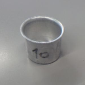 Bossola in alluminio #10 - Ø32,5  per ingessatura lampadari vetro Murano