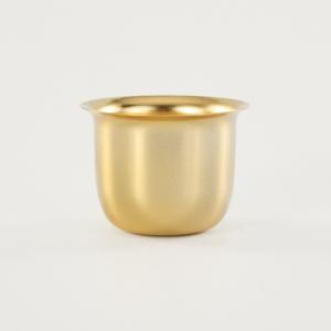 1/2 Bicchierino oro E27 Ø40 mm foro 10mm