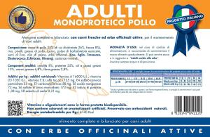 VET LINE ADULTI POLLO - MONOPROTEICO