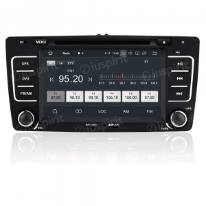 ANDROID 10 autoradio 2 DIN navigatore per Skoda Octavia 2004-2013 GPS DVD WI-FI Bluetooth MirrorLink