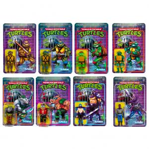 Teenage Mutant Ninja Turtles ReAction figures - serie 1 completa by Super 7