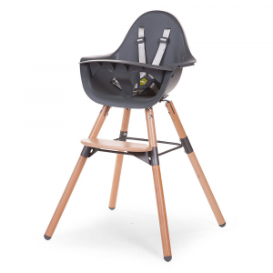 Seggiolone Evolutivo e Convertibile Evolu 2 Chair Childhome Antracite/Legno