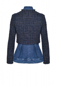 SHOPPING ON LINE PINKO GIACCA DUE PEZZI IN DENIM E TWEED HARPER 1 NEW COLLECTION WOMEN'S FALL WINTER 2020/2021