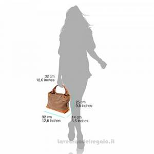 Borsa Marrone e Tortora a Mano con tracolla in pelle - Alice - Pelletteria Fiorentina