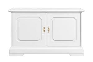Kleiner Buffetschrank weiß 2 Türen