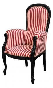 Sessel Voltaire lackiert mit Polsterung