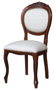 Chaise classique en bois sculpté