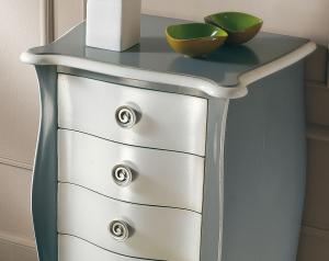 Chiffonnier modelé gris et blanc