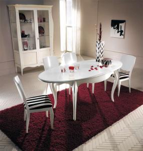 Ovaler Tisch weiß zum ausziehen 160/200 cm