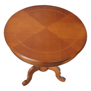 Runder Tisch mit Einlegearbeit Durch.70 cm