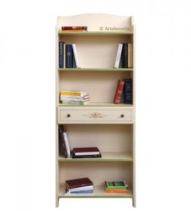 Bibliothèque étagère décorée avec tiroir