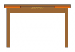 Table à rallonge avec tiroir 120-200 cm