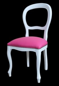 Stuhl Louis Philippe weiß und elegant
