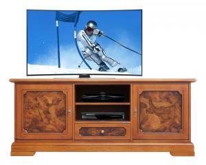Meuble Tv classique ronce de noyer