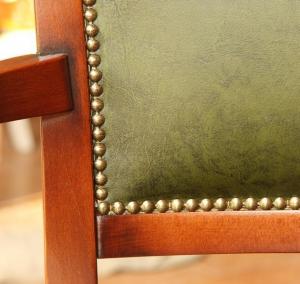 Echt Leder Lehnstuhl aus Holz