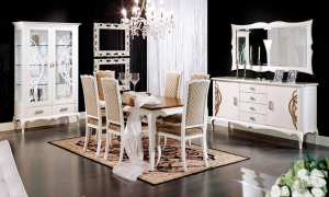 Elegante Vitrine 2 Türen weiß