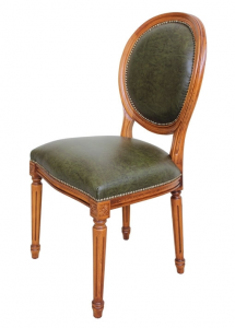 Chaise Empire en cuir véritable